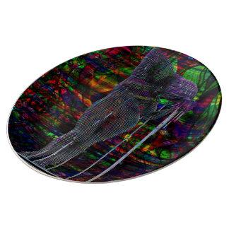 Abstract Aquarius Goddess Plate