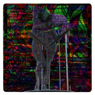 Abstract Aquarius Goddess Square Wall Clock