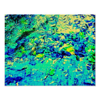 Abstract Aquatic View Poster