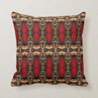 Abstract Architecture Art Coffee & Ox Blood pillow