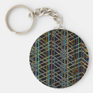 Abstract Architecture Basic Round Button Keychain