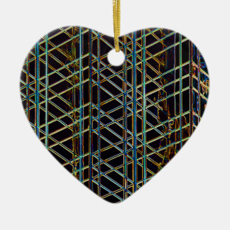 Abstract Architecture Ceramic Heart Ornament