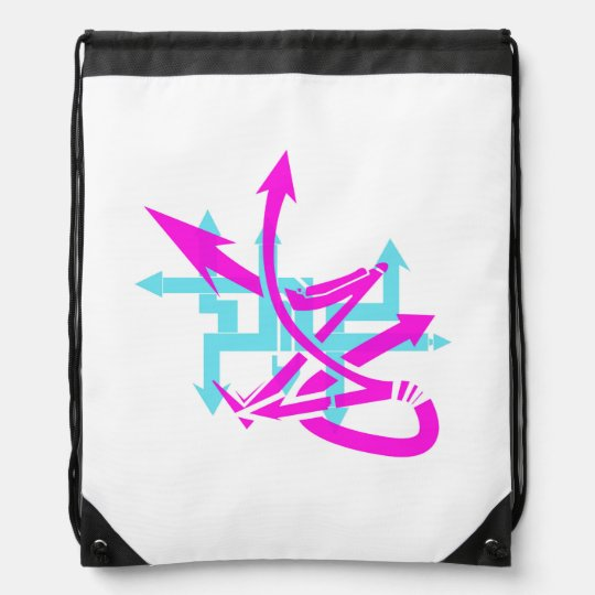 Abstract Arrows Drawstring Backpack