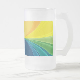 ABSTRACT ART 16 OZ FROSTED GLASS BEER MUG