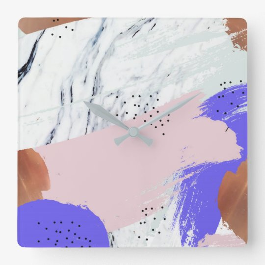 Abstract Art 1 square wall clock