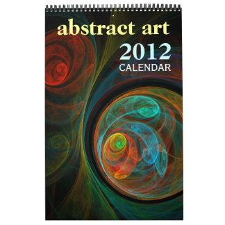 Abstract Art 2012 Fine Art Calendar (Standard)