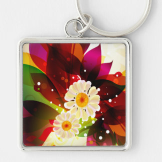 Abstract Art 25 Keychain