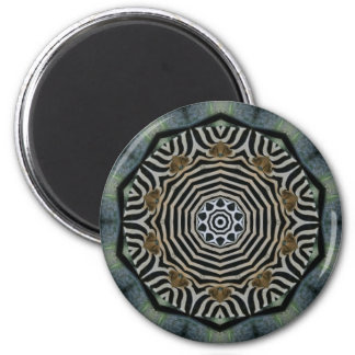 ABSTRACT ART) 2 INCH ROUND MAGNET