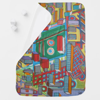 "Abstract Art Baby Blanket ""Building Blocks"""