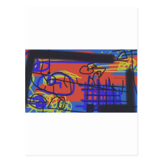 Abstract Art | Barbed Wire Postcard