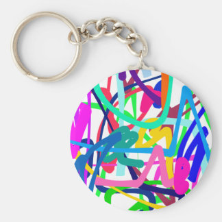 Abstract Art Basic Round Button Keychain