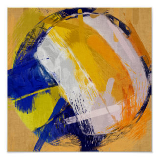 Abstract Art Beach Volleyball Poster