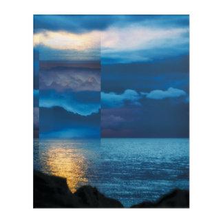 Abstract art – Beautiful Geometric Ocean Sunset