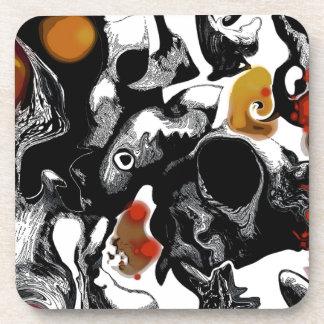 """Abstract Art - """"Below Zero"""" Coasters"""
