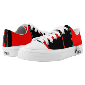 Abstract Art Black Red Blue City Shoes Sneakers