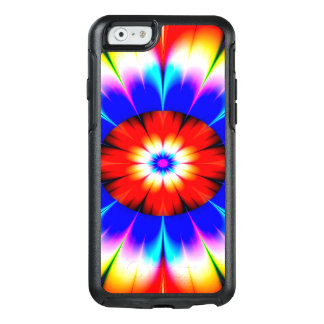 Abstract Art Blue Red And White Flower OtterBox iPhone 6/6s Case