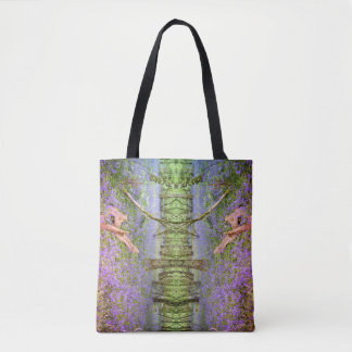 Abstract Art Bluebells Shopping Tote Bag