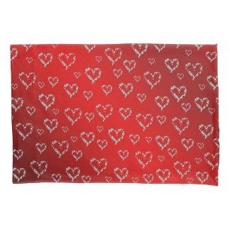 abstract, art, bright, holiday, hearts, heart, pillowcase