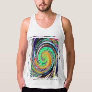 Abstract Art Bright Neon Whirlpool Vortex Tank Top