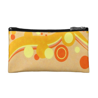 Abstract Art Brown Background Yellow And Orange Ci Cosmetic Bag