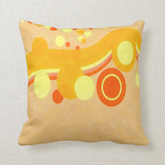 Abstract Art Brown Background Yellow And Orange Ci Throw Pillow