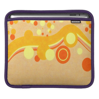 Abstract Art Brown Background Yellow And Orange iPad Sleeve