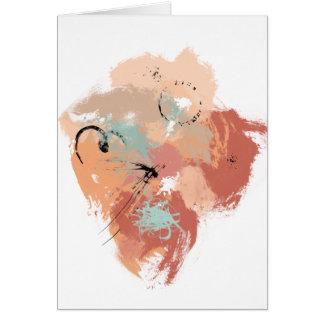 Abstract Art Brushstrokes Drips Splatters Marks Card