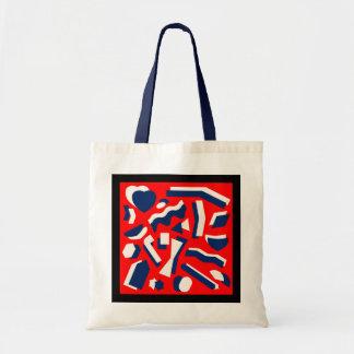 Abstract art budget tote bag