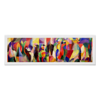 Abstract Art by Sonia Delaunay - Tango Bal Bullier Poster