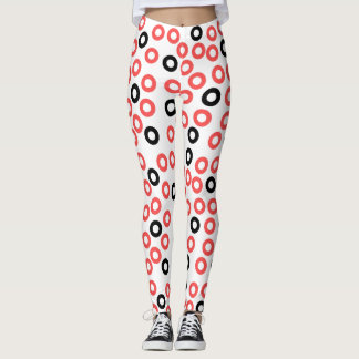 Abstract Art circles design leggings