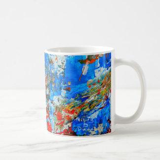 Abstract art coffee mug, colorful and  trendy coffee mug