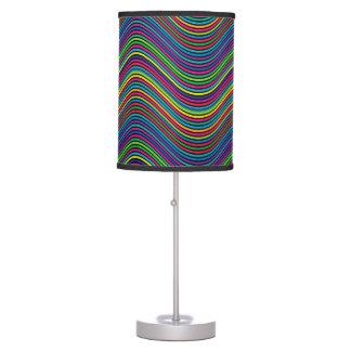 Abstract Art Color Decorative Wavy Lines Desk Lamp