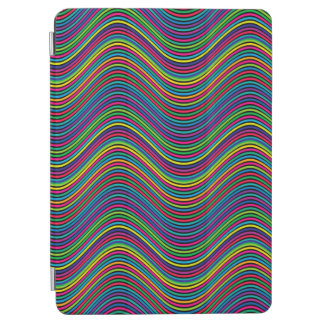 Abstract Art Color Decorative Wavy Lines iPad Air Cover