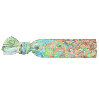 Abstract Art Colorful Green Splatter Background Hair Tie