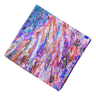 Abstract Art Colorful Purple Whirl Background Bandana