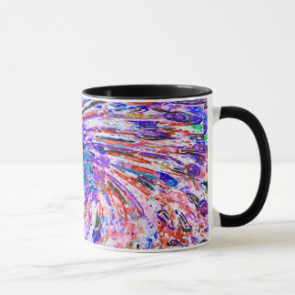 Abstract Art Colorful Purple Whirl Background Mug