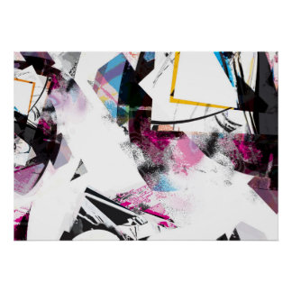 Abstract Art colors Poster
