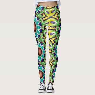 Abstract Art Deco Colorful Rainbow Womens Leggings
