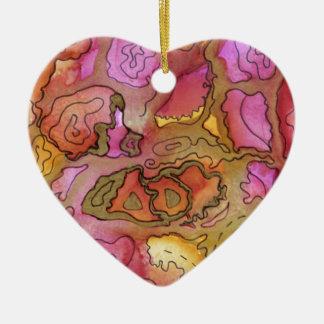 Abstract Art Design Ceramic Ornament