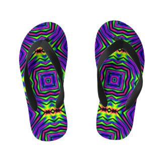 Abstract Art Design Kid's Flip Flops