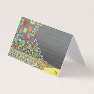 "Abstract Art Designer 25 Pk Note Cards ""Yellow Rd"""