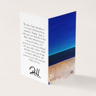 "Abstract Art Designer 25Pk. Note Cards ""Beach"""