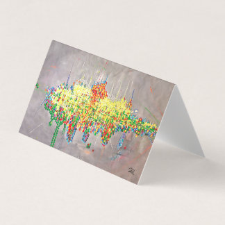 "Abstract Art Designer 25Pk. Note Cards ""Birthday"""