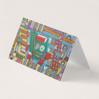 "Abstract Art Designer 25Pk. Note Cards ""Blocks"""
