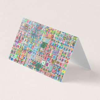 """Abstract Art Designer 25Pk. Note Cards """"City"""""""