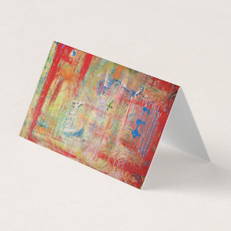 "Abstract Art Designer 25Pk. Note Cards ""Cross"""