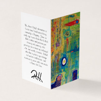"Abstract Art Designer 25Pk. Note Cards ""Egg"""