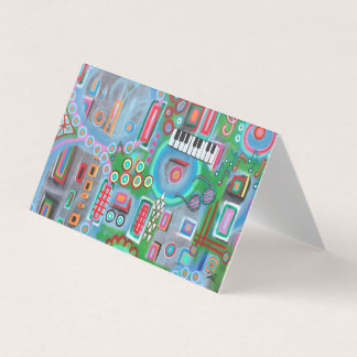 """Abstract Art Designer 25Pk. Note Cards """"Music"""""""