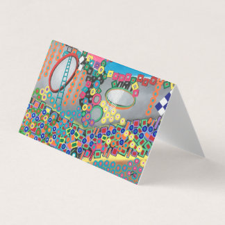 "Abstract Art Designer 25Pk. Note Cards""Shower"" Card"
