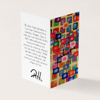 "Abstract Art Designer 25Pk. Note Cards ""Square"""